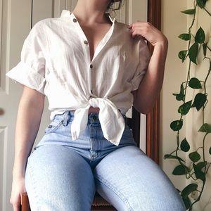 VINTAGE • short sleeve button down